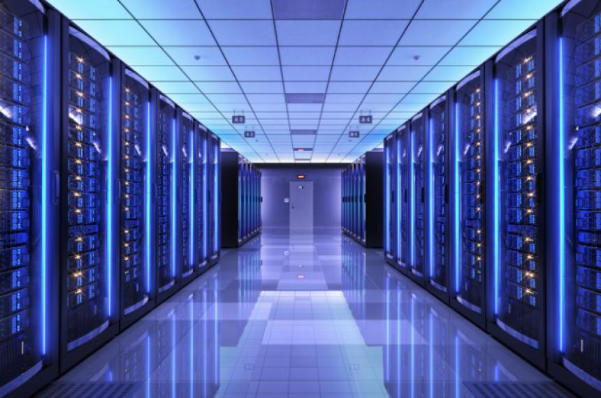 Darkly Lit Data Center