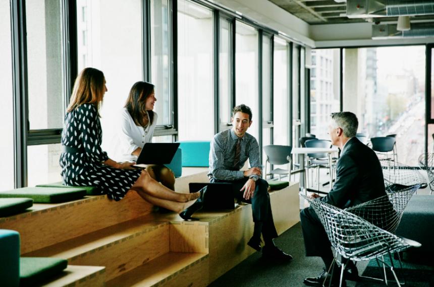 Employees Talking at Work