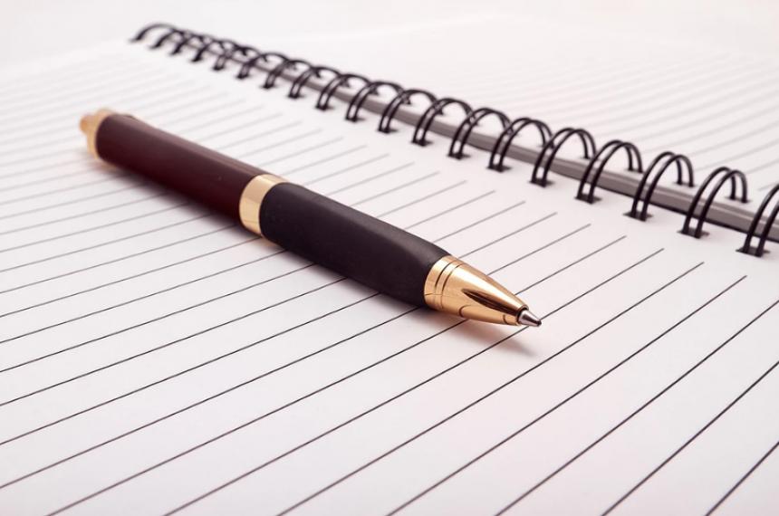 Pen Set on Paper Notepad